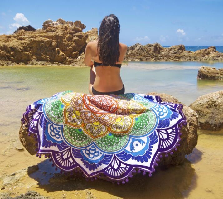 fringed beach towel