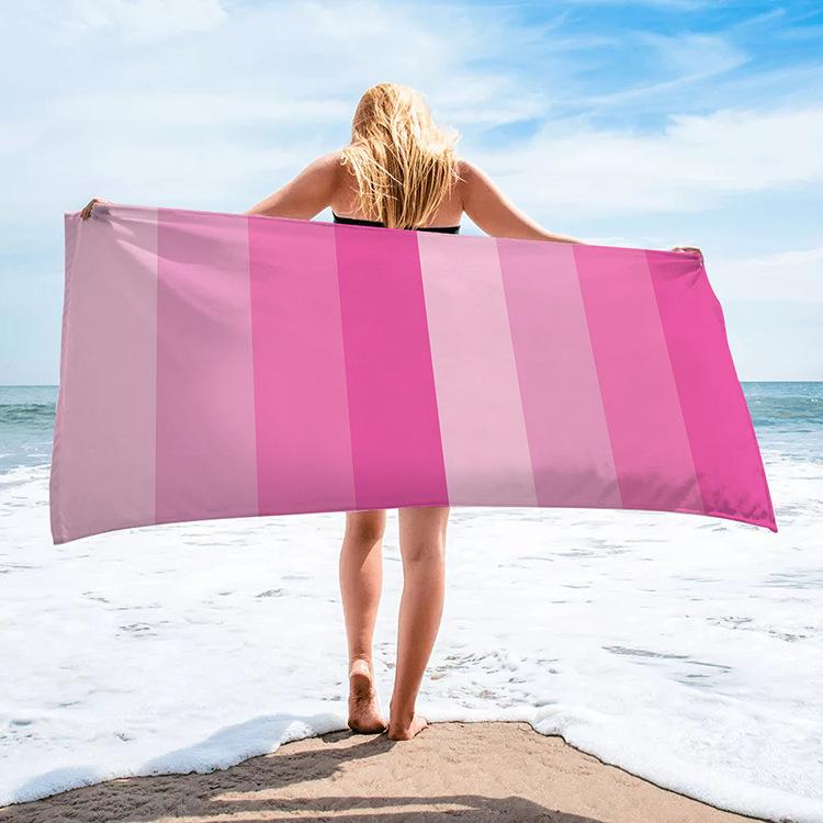 gradient pink beach towel