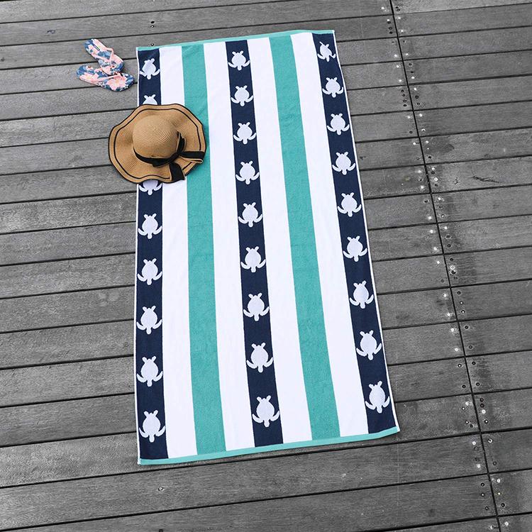 colorful cotton beach towels